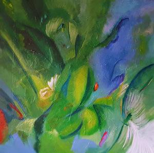 """Theodora BERNARDINI - Painting - """"Caraïbes"""""""