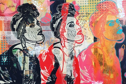 Marita TOBNER - Painting - Don't tell it mama