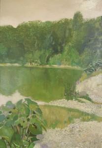 René GENIS - Pintura - Le gue