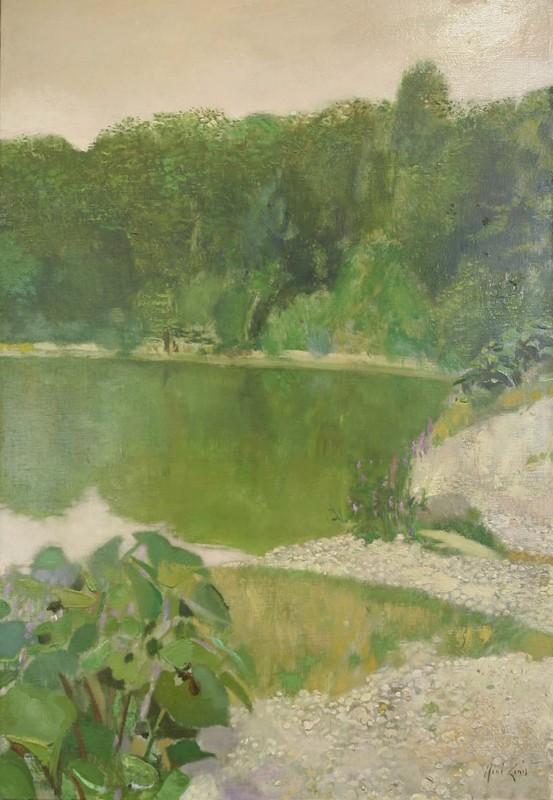 René GENIS - Peinture - Le gue