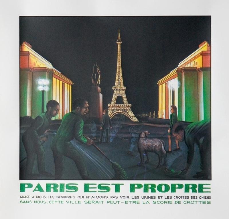 Chéri SAMBA - Grabado - Paris est propre
