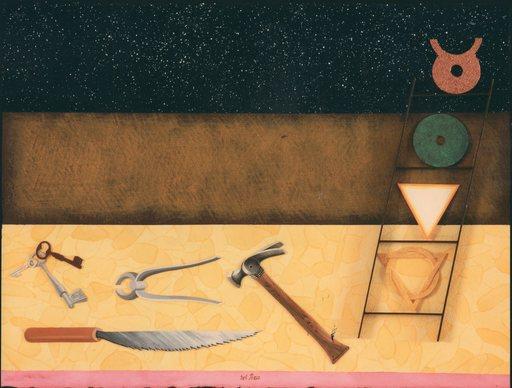 Lucio DEL PEZZO - Painting - STUDIO