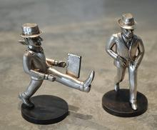 Antonio SEGUI (1934) - Paire de sculptures en Argent / compradito et el viajero