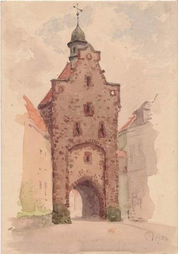 Otto NABER - Peinture - Blomberg, das untere Tor