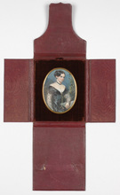 "Franz SCHROTZBERG (Attrib.) - Miniature - ""Portrait of a young lady"" Miniature, 1830s"