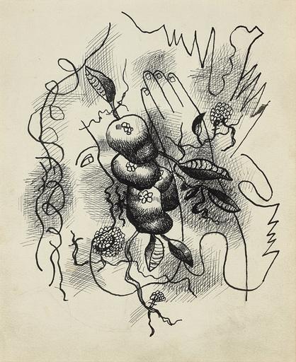Fernand LÉGER - Drawing-Watercolor - Composition au profil et à la main
