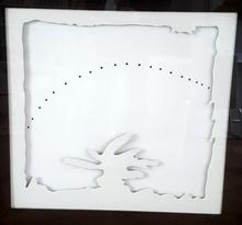 Lucio FONTANA - Print-Multiple - Concetto spaziale - Teatrino, blanco -II-