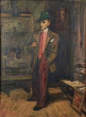 Arbit BLATAS - Peinture - Portrait of a Man