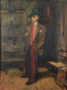 Arbit BLATAS - Painting - Portrait of a Man