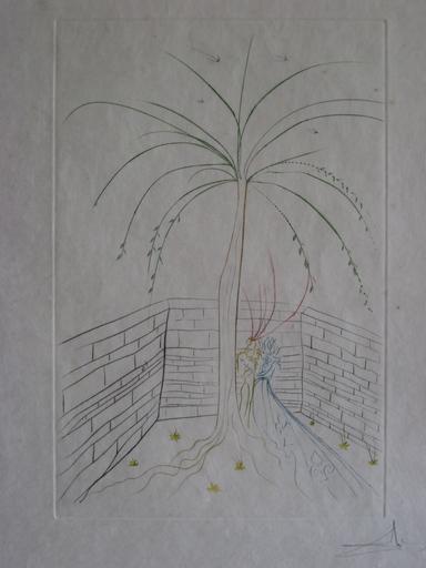 Salvador DALI - Estampe-Multiple - GRAVURE 1975 GRAAL SIGNÉE AU CRAYON ML785 HANDSIGNED ETCHING
