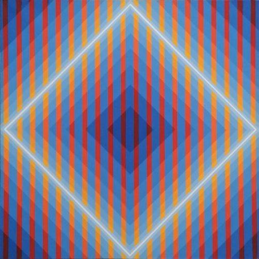 Horacio GARCÍA ROSSI - Peinture - Couleur lumière (en cage)