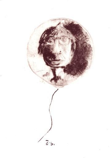 Jacotte SIBRE - Estampe-Multiple - Le ballon