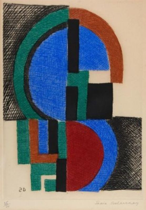 Sonia DELAUNAY-TERK - Print-Multiple - Composition