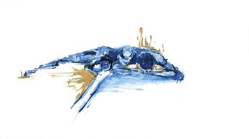 Nicole LEIDENFROST - Gemälde - Mann in blau