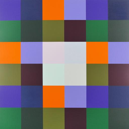 Richard Paul LOHSE - Grabado - Vier und fünf Farbgruppen mit hellen Zentrum