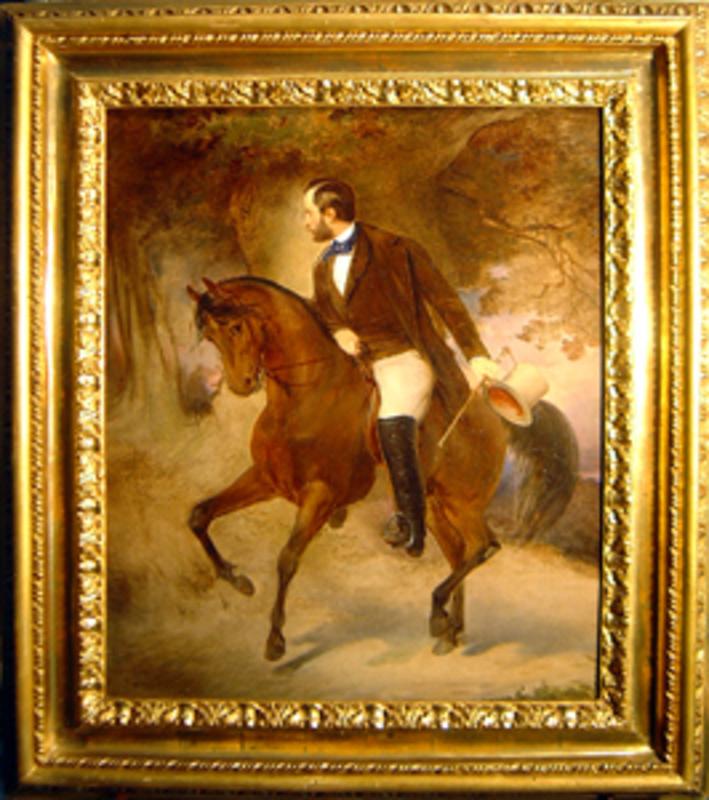 Roberto BOMPIANI - Peinture -  Principe a cavallo