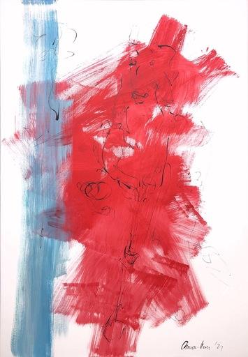 Nicole LEIDENFROST - Gemälde - Horse in red