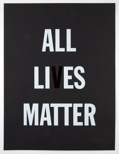 Hank WILLIS THOMAS - Print-Multiple - All Li es Matter
