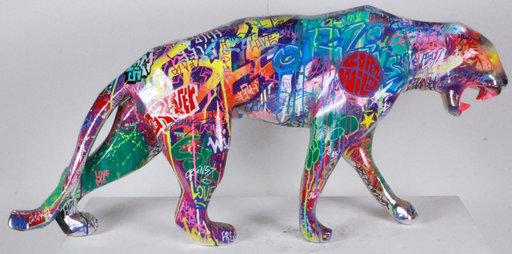 Richard ORLINSKI - Sculpture-Volume - Wild panther - Tagué