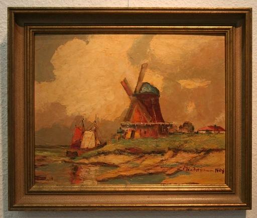 Heinz MINDERMANN - Pintura - Windmühle