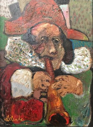 Alfonso ABELENDA ESCUDERO - Pintura - flautista
