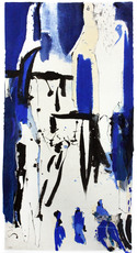 Judith WOLFE - Drawing-Watercolor - Résister Blues III