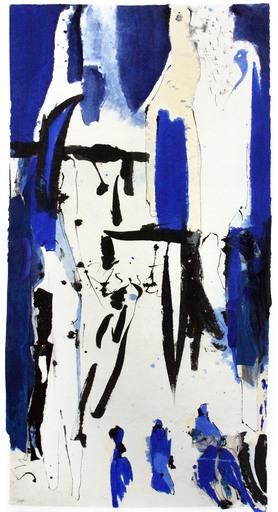 Judith WOLFE - Disegno Acquarello - Résister Blues III