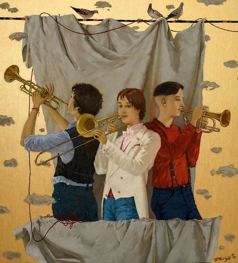 Tatjana PALCUKA - Painting - Trio with Trombonist    (Cat N° 6093)