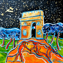 Jean-François BRAHIN - Peinture - La danse de Matisse visite les champs
