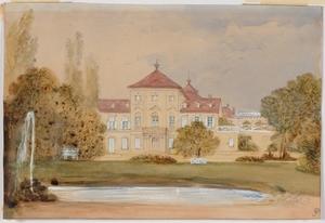 "Alexander II RITTER VON BENSA - Pintura - ""Villa with Park"", Watercolor"