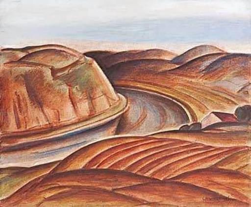 Georg Philipp WÖRLEN - Pintura - Donaulandschaft