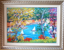 Antonio IALENTI - Painting - Portofino