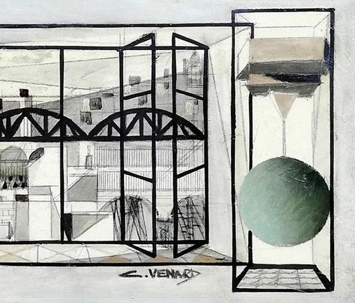 Claude VENARD - Pittura - vue de la cité