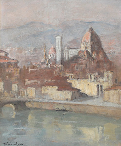 Louis Marie DESIRÉ-LUCAS - Painting - Florence,  Santa Maria del Fiore