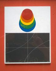 Lucio DEL PEZZO - Painting - Dischi cromatici e curve