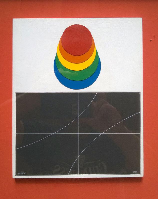Lucio DEL PEZZO - Pittura - Dischi cromatici e curve