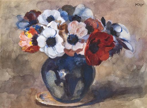 Heinrich KLEY - Dessin-Aquarelle - Blumenstilleben