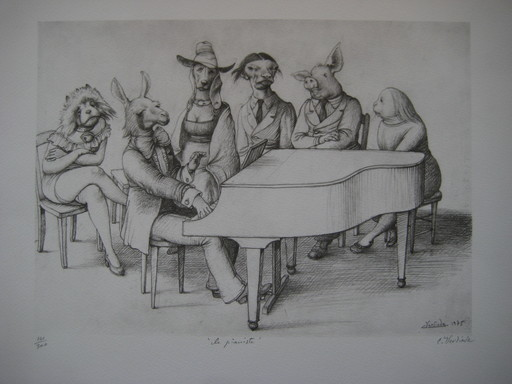Claude VERLINDE - Print-Multiple - LITHOGRAPHIE SIGNÉE AU CRAYON NUM/300 HANDSIGNED LITHOGRAPH