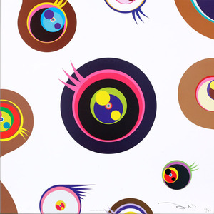 Takashi MURAKAMI, Jellyfish Eyes - White 1