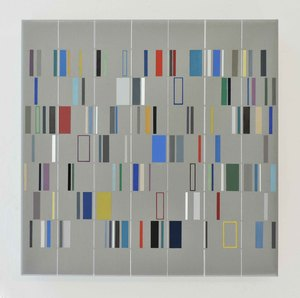 Laszlo OTTO - Painting - Vertical in Horizontal 09-29