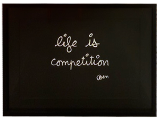 BEN - Grabado - Life is competition
