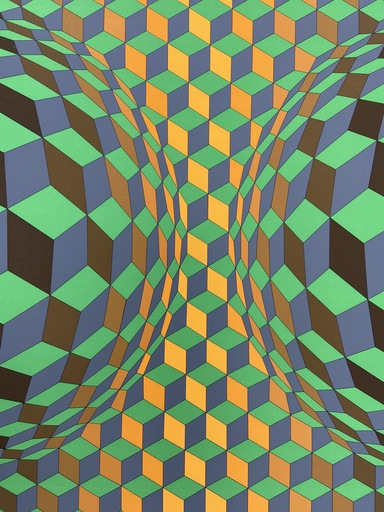 Victor VASARELY - Stampa-Multiplo - Vasarely - Cinétique 3