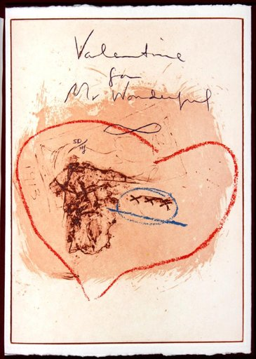 Helen FRANKENTHALER - Druckgrafik-Multiple - Valentine for Mr. Wonderful