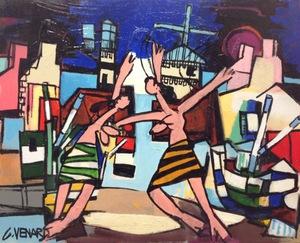 Claude VENARD - Painting - La danse