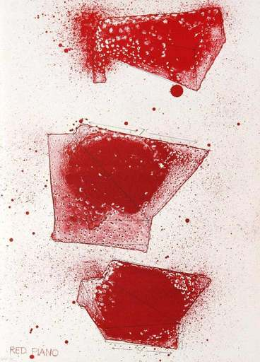Jim DINE - Stampa-Multiplo - Red Piano