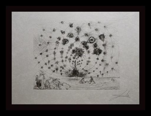 Salvador DALI - Estampe-Multiple - The Mythology Argus (Black & White)