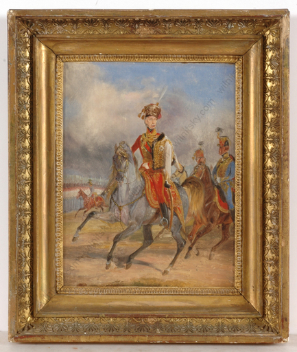 "Dietrich MONTEN - Peinture - Archduke Joseph, Palatine of Hungary"", very important oil pa"