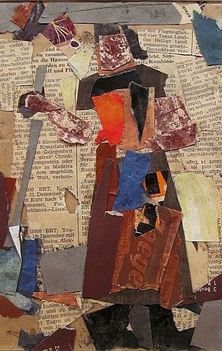 Erich HARTMANN - Dessin-Aquarelle - Abstrakte Collage