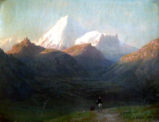 Lev Feliksovic LAGORIO - Peinture - Montagne del Caucaso