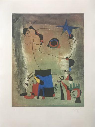 Joan MIRO - Print-Multiple - Chien bleu